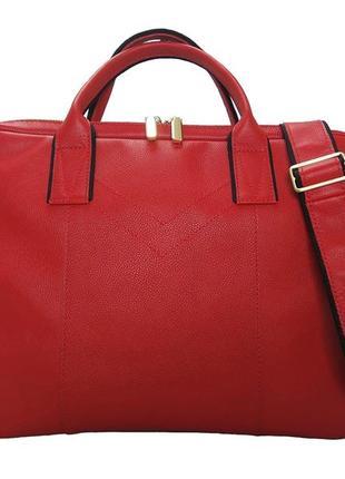 Жіноча ділова шкіряна сумка 147
