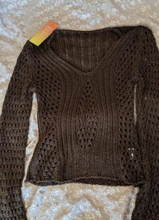 Вязаная блуза