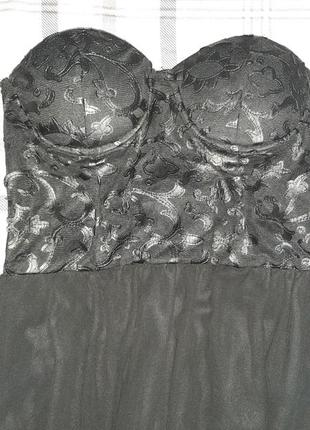 Платье на выпускной корсет бюстье