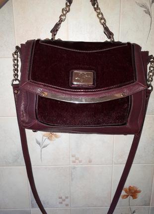 Брендовая сумка цвета марсала dorothy perkins