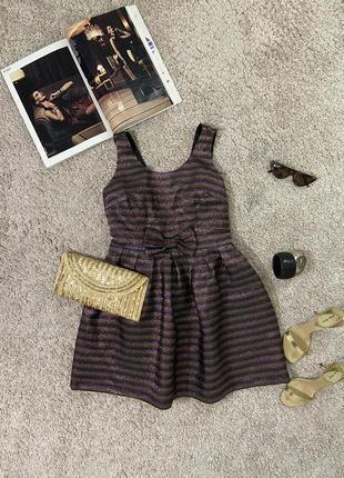 Распродажа!!! нарядное платье с люрексом №475 topshop