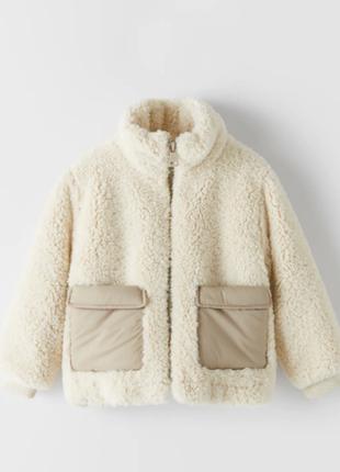 Меховая куртка шубка zara