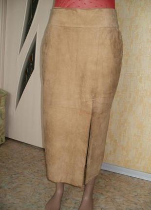 Шикарная юбка из оленей  замши юбка замшевая юбка кожаная юбка