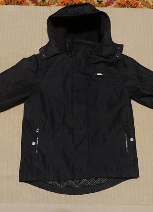 Черная фирменная штормовая термокуртка no fear сша на 9/10 лет ( 134/140 см.)