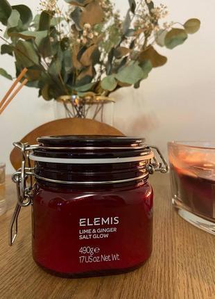 Солевой скраб для тела лайм-имбирь elemis body exotics lime and ginger salt glow, 490г