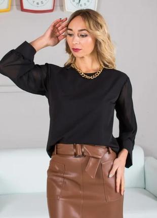 Блуза (с шифоновыми рукавами).