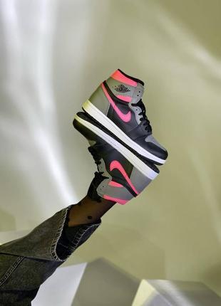 Nike air jordan retro 1 grey pink