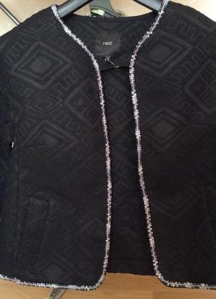 Жакет #next пиджак чёрный