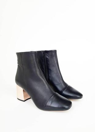 Next. кожаные  ботинки на устойчивом каблучке