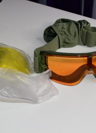 Новая.тактическая маска со сменными стеклами-фильтр