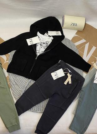 Кофта на замке с капюшоном кардиган 104 110 см 92 98 см реглан штаны спортивные брюки zara h&m