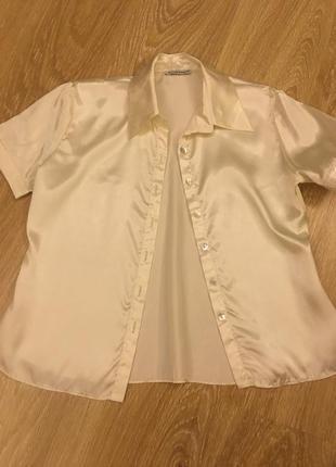 Блузка с коротким рукавом для офиса