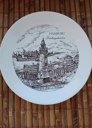 Коллекционная тарелка из гамбурга