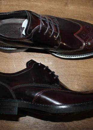 Шкіряні туфлі ecco kent on, 41 розмір