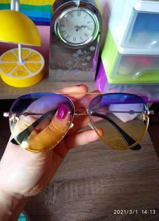Яркие💛💙 градиентные солнцезащитные очки
