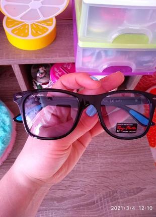 Яркие 💙 солнцезащитные очки ray flector
