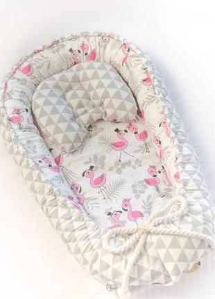 Кокон позиционер гнездышко для новорожденного, гніздечко