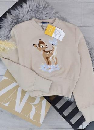 Свитшот свитер батник zara bambi disney