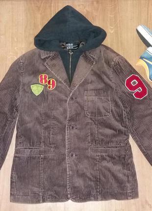 Вельветовый пиджак one by one на 10 лет