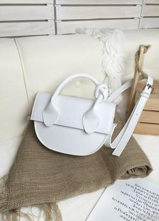 Белая сумочка мини