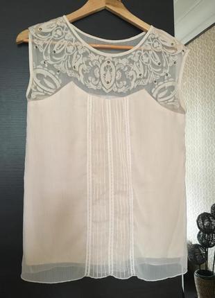 Блуза шифоновая с вышивкой promod