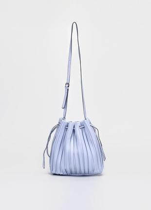 Женская сумка (хобо) braska/жіноча блакитна сумка (хобо) браска
