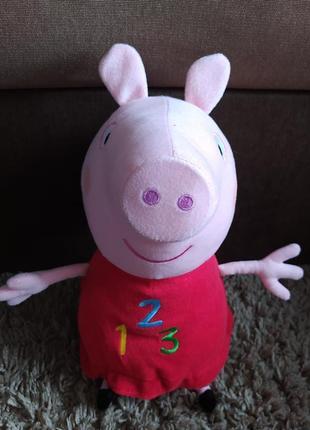 Игрушка мягкая іграшка свинка пеппа музикальна большая