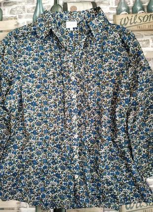 Легкая блуза с принтом мелкие цветы