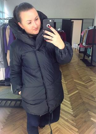 Новая чёрная куртка одеяло зефирка