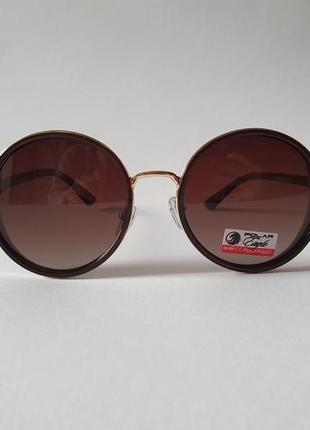 Женские круглые солнцезащитные очки,  жіночі сонцезахисні окуляри круглі