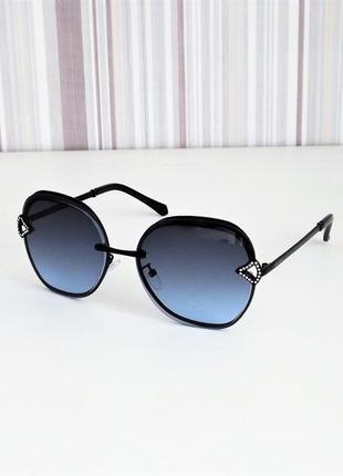 Очки солнцезащитные женские bvlg 20211 тёмно-синие черный