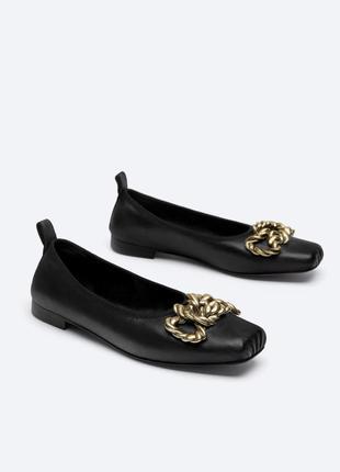 Кожаные балетки туфли балеринки от uterque оригинал