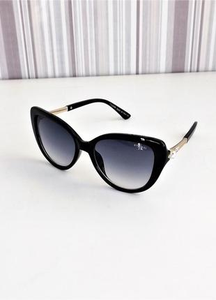 Очки солнцезащитные женские bvl 8196 чёрный глянец.