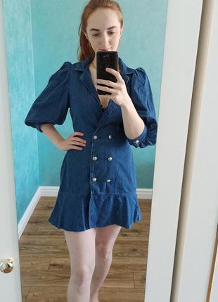 Джинсове платье zara s,m