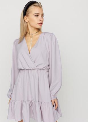 Платье свободного кроя из легкой ткани 2021