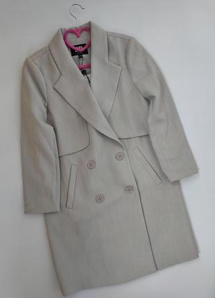 Двубортный серый длинный блейзер, длинный  пиджак,  жакет vero moda,  p-p s