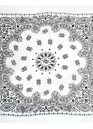 Бандана белая косынка классика огурцы в наличии