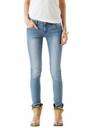 Синие стрейчевые зауженные джинсы promod pp m(38) распродажа остатков!