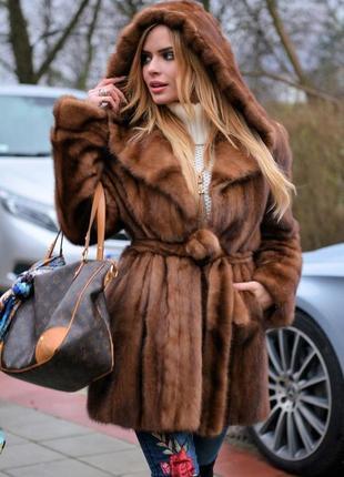 Норковая шуба парка норка saga furs италия новая коллекция хит продаж 2021