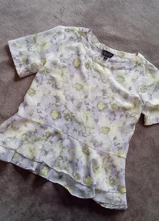 Шифоновая блуза с баской