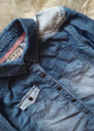 Стильная джинсовая рубашка от next