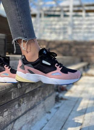 Женские кроссовки adidas falcon pink black 36-37-38-39-40-41
