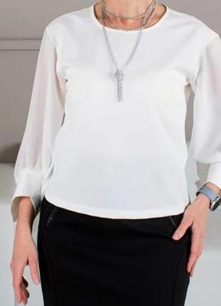 Блуза(с шифоновыми рукавами).