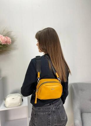 Женская сумка эко-кожа david jones желтая