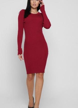 Платье футляр обтягивающие платье бандаж с открытой спиной