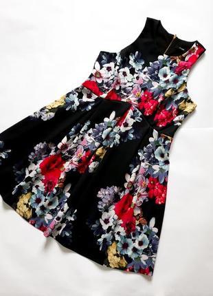 Платье с пышной юбкой в цветы  george