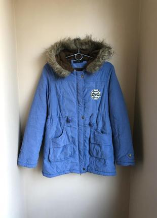 Парка утеплённая тедди пальто куртка s/m/l