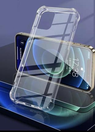 Чехол на iphone 12 pro max силиконовый противоударный на айфон защита