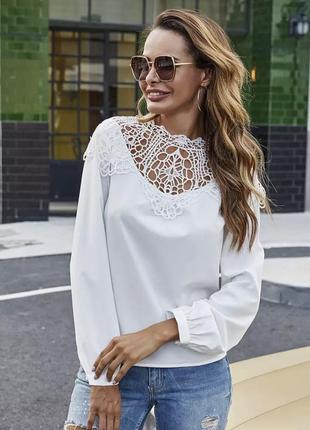 Нежная блуза молочного цвета