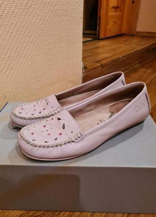 Кожаные макасины, туфли gabor. размер 37
